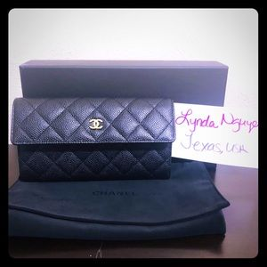 CHANEL Bags - Chanel Black Caviar Wallet
